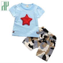Children Boy Clothes Sets Kids Short Sleeves T-shirt Camouflage Shorts Girls Outfits Toddler Boy Summer Clothes Suit 1 4 Years