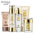 H2o8 proteína de seda conjuntos de cuidados rosto controle de óleo de clareamento hidratante nutritivo diminuir os poros Anti envelhecimento Anti rugas cosméticos