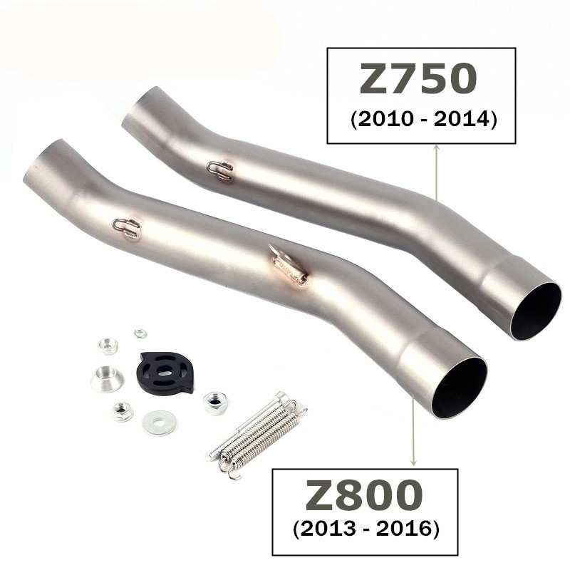 Full System Slip On For kawasaki Z750 Z 750 Motorcycle Exhaust Muffler Escape Middle Link Mid Pipe