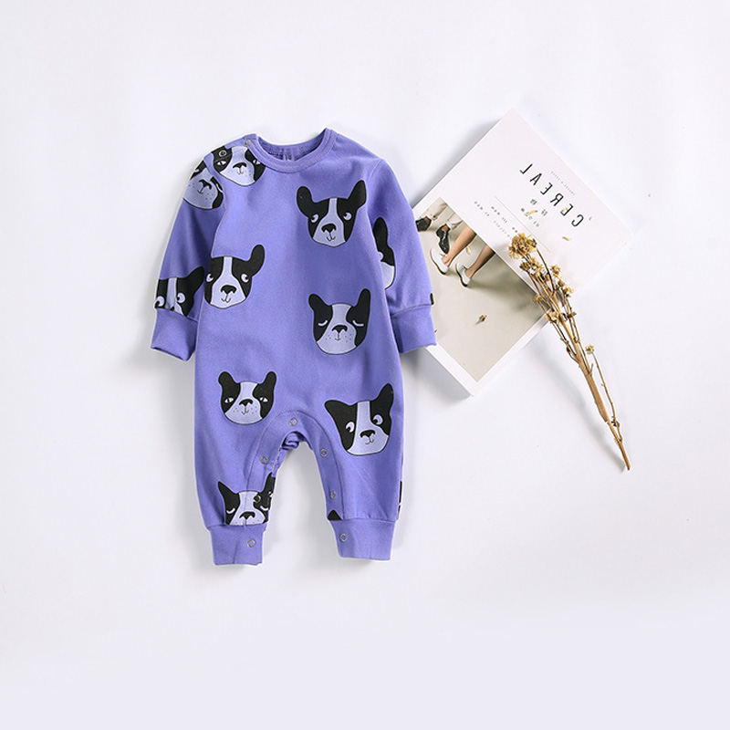 Autumn Baby kids Girls Roupas Bebe Clothing Boys Rompers Printed Cartoon Dogs Infants Meninas Male Overalls Jumpsuits S5710 cotton baby rompers set newborn clothes baby clothing boys girls cartoon jumpsuits long sleeve overalls coveralls autumn winter