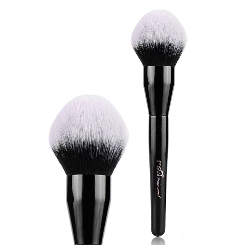 MSQ 1PC Professional Makeup Brush Foundation Makeup Soft Brush Wood Handle Make Up Face Loose Powder Brush Wash Face Brush professional bullet style cosmetic make up foundation soft brush golden white
