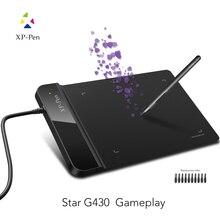 XP-Ручка G430 4×3 дюймовый Ультратонкий Графический Рисунок Таблетка для Игры ОГУ и батареек стилус дизайн! геймплей.