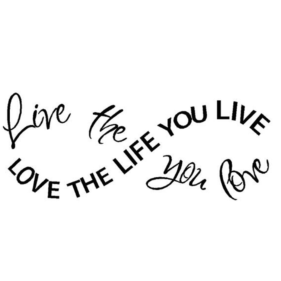 Free shipping wall stickers home decor Love the life you live BOB MARLEY vinyl
