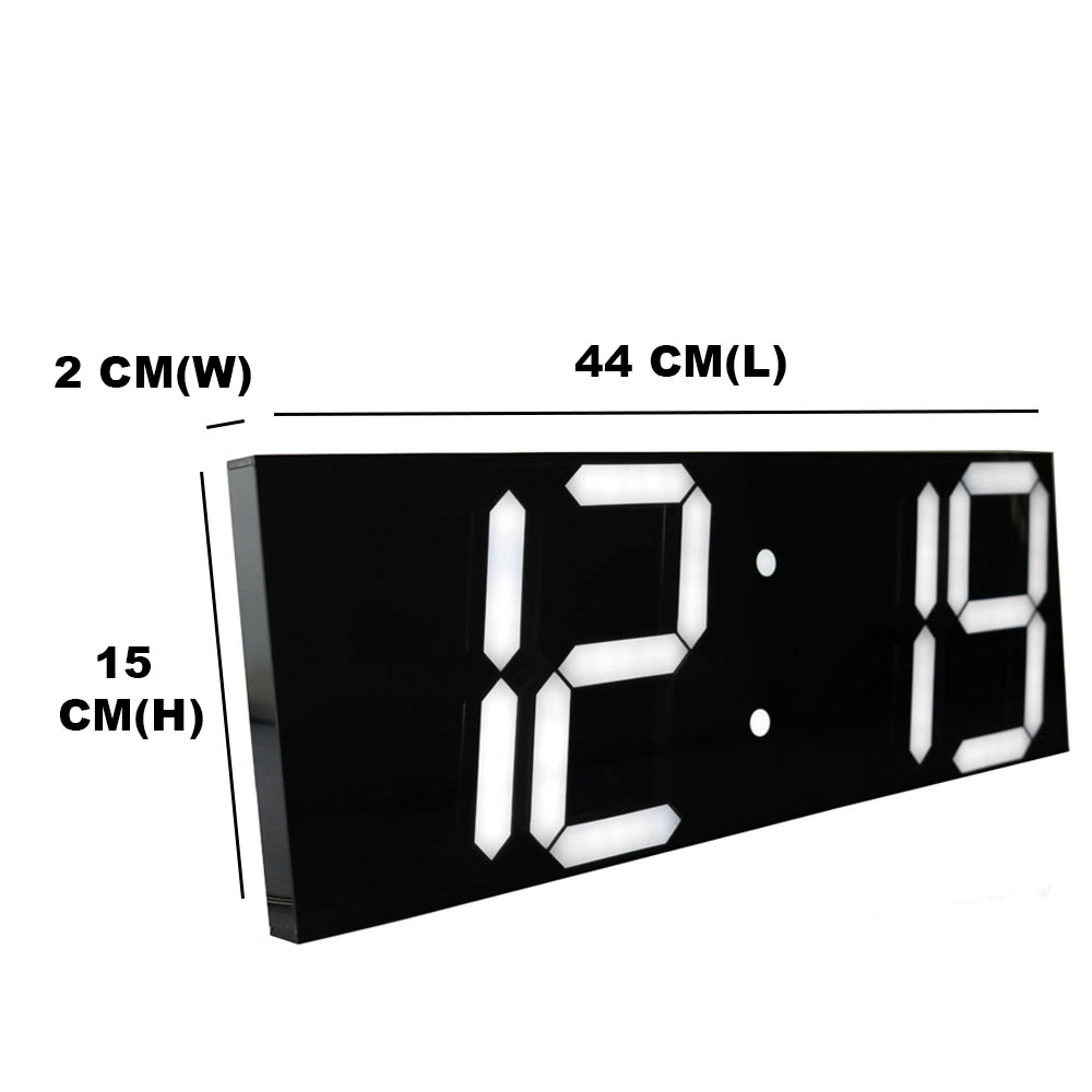 aliexpresscom  buy large digital wall clock modern design  - aliexpresscom  buy large digital wall clock modern design displaycountdown calendar temperature alarms wall watch in the living room homedecor from