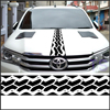 Free Shipping 1PC Racing Custom Off Road Tire Tracks Hood Vinyl Graphic For TOYOTA HILUX REVO