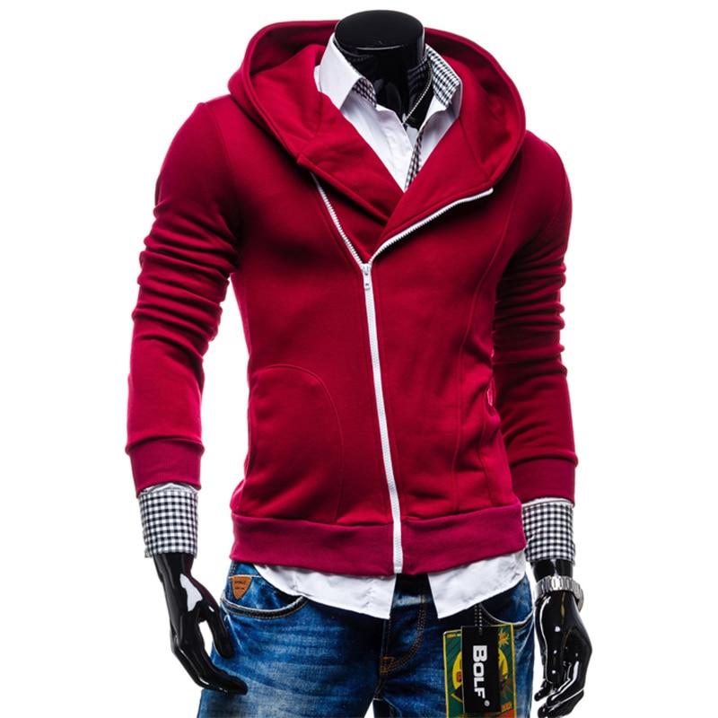 2017 Winter & Moda Autunno Uomini Di Marca Con Cappuccio Mens Casual Sportswear Maschile Hoody Zipper Manica Lunga Giacca Felpa S-xxl Swy13 Pacchetti Alla Moda E Attraenti