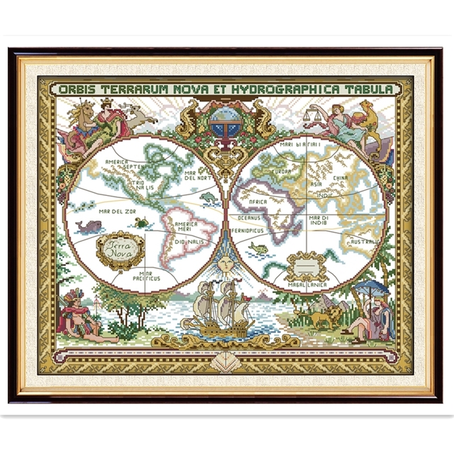 Old world map chinese counted cross stitch patterns embroidery cross old world map chinese counted cross stitch patterns embroidery cross set joy sunday painting dmc cross gumiabroncs Gallery