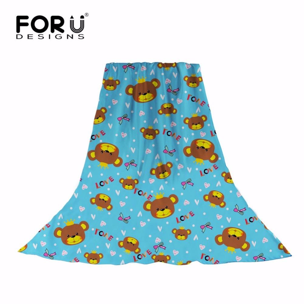 FORUDESIGNS Women   Scarves   Cartoon Bear Pattern Chiffon   Scarf     Wrap   Shawl High Quality Neckerchief Summer Beach Towels Echarpe