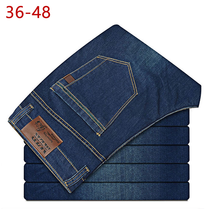 2019 Summer Big Size 36-48 Stretch Baggy Jeans Men Brand Blue Demin Relax Pants Male Jogger Elastic Plus Biker High Quality CQY