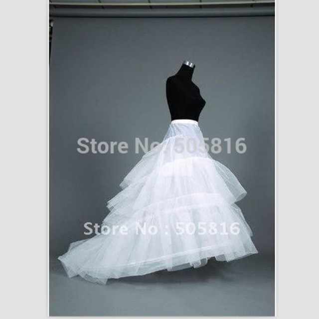 White Plus Size 2 Hoops Wedding Gown Train Petticoat  Crinolines  Slips Fit USA SIZE 20W-26W