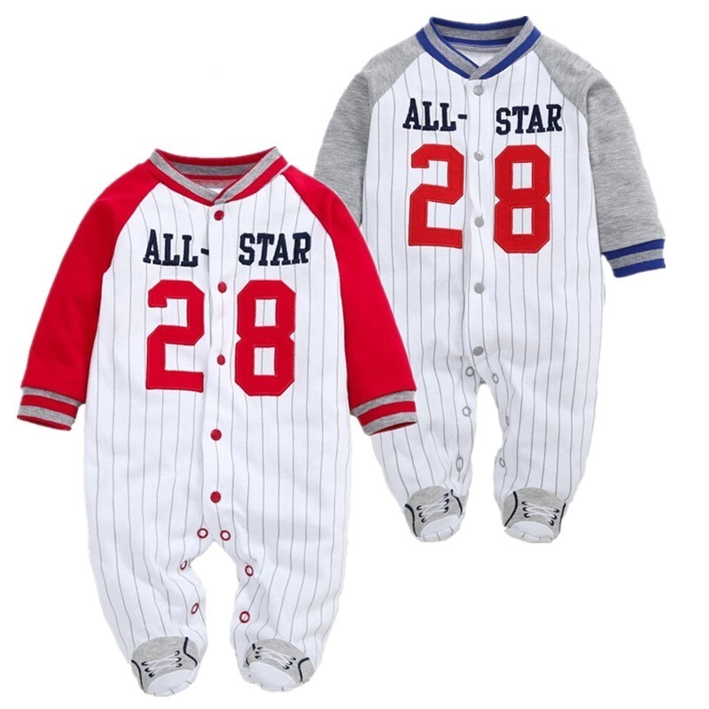 Baby Boy Clothes Newborn Footies Long Sleeve Pajamas Body Suits Jumpsuit Baby Children Bebes Clothing carters baby boy footies