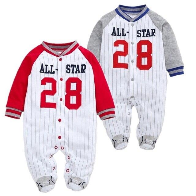 be370bca0 Baby Boy Roupas de bebê Recém-nascido Footies Manga Longa Pijama Corpo Se  Adapte Macacão