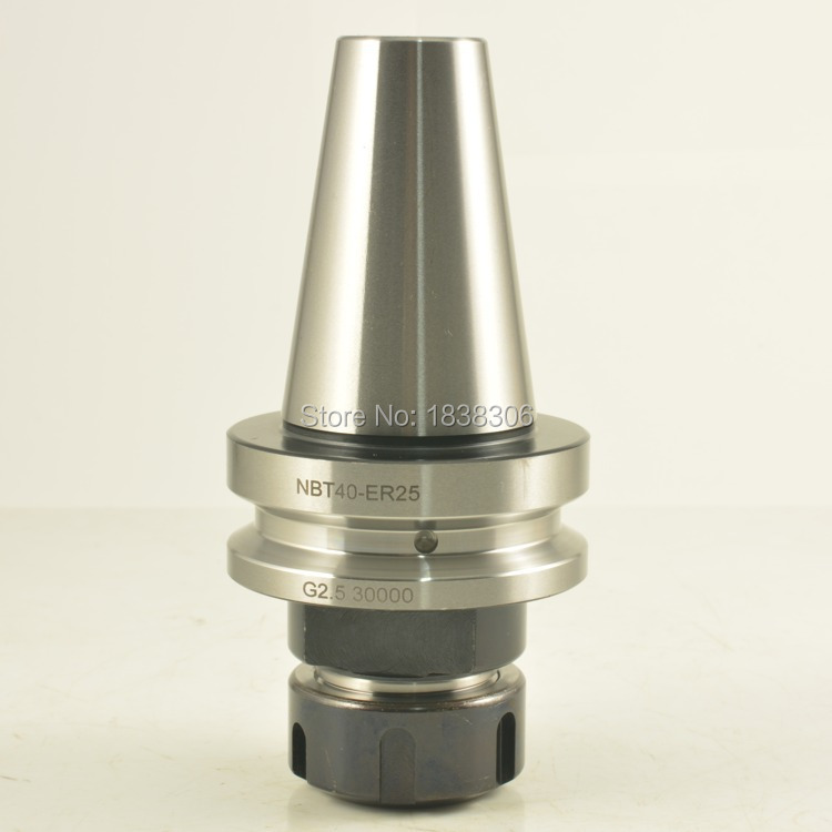 Фотография  1pcs  BT40 without keyway G2.5 speed  COLLET CUHUCK TOOLHOLDER NBT40-ER25UM-60 L