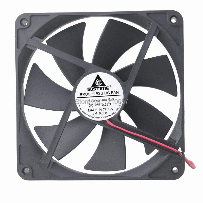 5Pcs//lot DC 12V 2 Pin Brushless Cool Cooler Fan for VGA Graphics