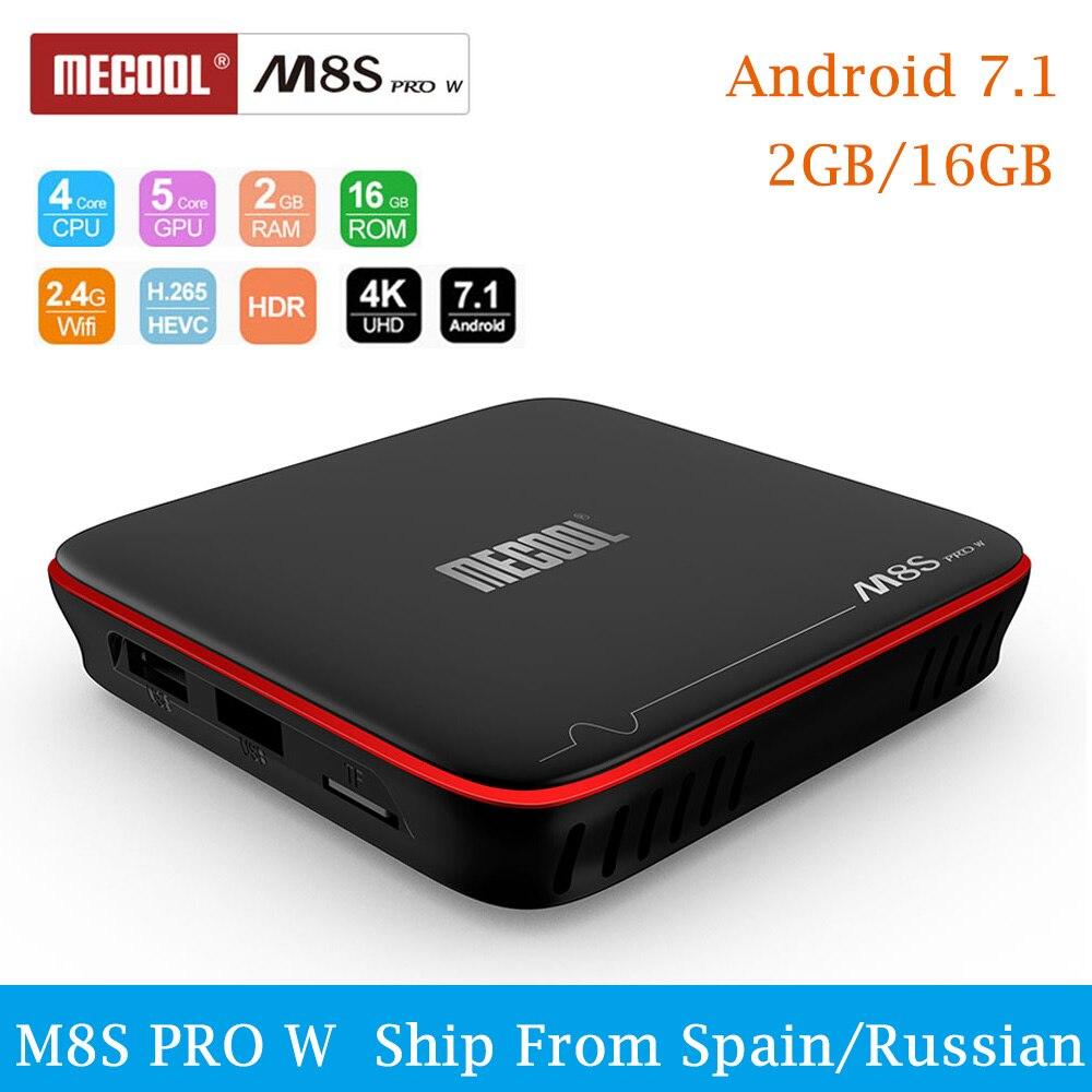 MECOOL M8S PRO W Android 7.1 TV Box Amlogic S905W Quad Core Smart Tv 2GB 16GB 4K HD 2.4G WiFi DDR3 MPEG-4 WiFi Media Player