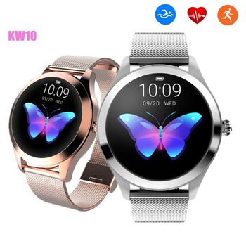 New Luxury Fashion KW10 Lady Smart Watch Women Bracelet Heart Rate Monitor IP68 Waterproof Smartwatch For IOS Android Smart Band