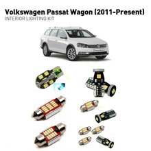Led interior lights For volkswagen passat wagon 2011+  17pc Led Lights For Cars lighting kit automotive bulbs Canbus
