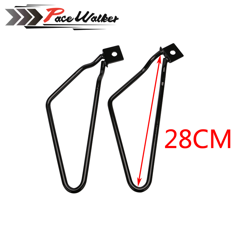 free shipping Motorcycle Saddlebag Support Bars Brackets For Harley Sportster 883 Iron XL883N Dyna Fat Bob FXDF brand new silver color motortcycle accessories abs plastic led tail light fit for harley harley iron 883 xl883n xl1200n chopped