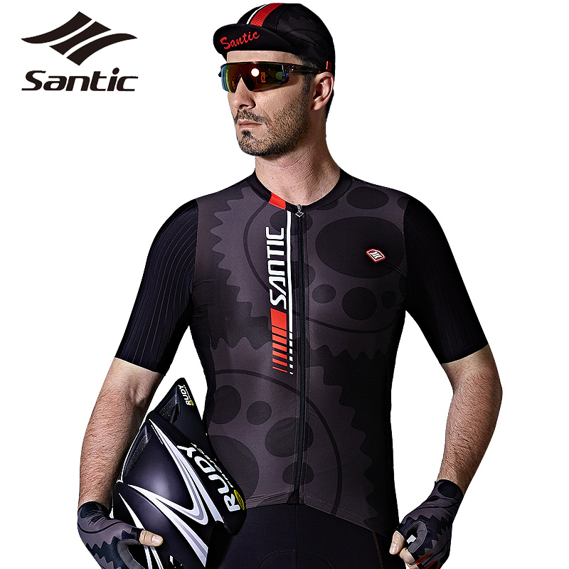 SANTIC 2017 New Men Bicycle Bike Zipper Jerseys MTB Road Cycling Pro Team Top Short Sleeve Breathable Jersey Cycling Clothing 2016 newest rainproof santic cycling jacket multi function bicycle jerseys windproof breathable mtb bike clothing raincoat