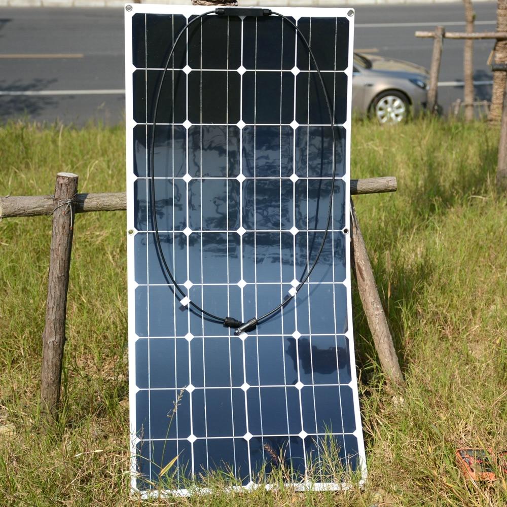 2 pcs/4 pcs Mono 20 V 100 W Flessibile Pannello Solare Moduli per la Pesca Barca Auto RV 12 V Batteria Caricatore Solare 36 Celle Solari 100 W