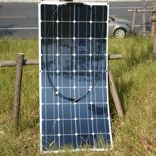 2 unids/4 unids de Silicio Mono 20 V 100 W Panel Solar Flexible para la Pesca barco Del Coche RV 12 V Cargador de Batería Solar Panel Sistema de Módulos Kits
