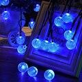 20 LED Bola de Energía Solar Luz de la Secuencia de la Navidad Para El Exterior Parte Del Patio Al Aire Libre