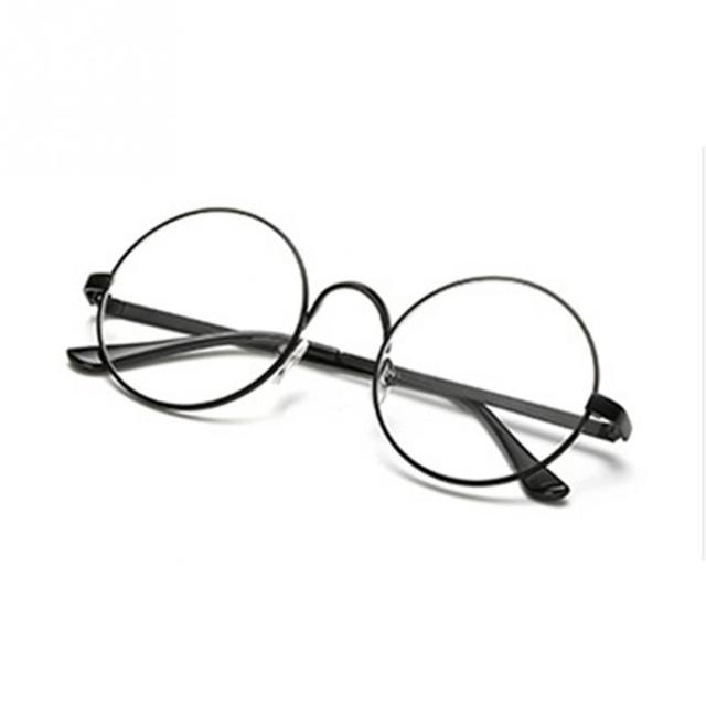f58f2b162b964 New Arrival Women Men Fashion Retro Round Circle Metal Frame female male  Plain glasses Eyeglasses Clear Lens Eye Glasses Unisex