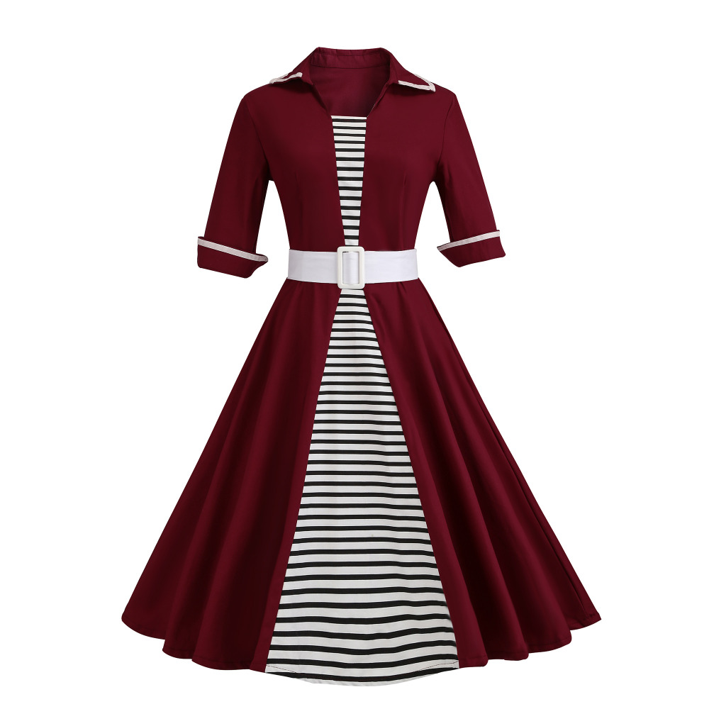 Hot Selling Women's European Maxi Size Pleated Dress