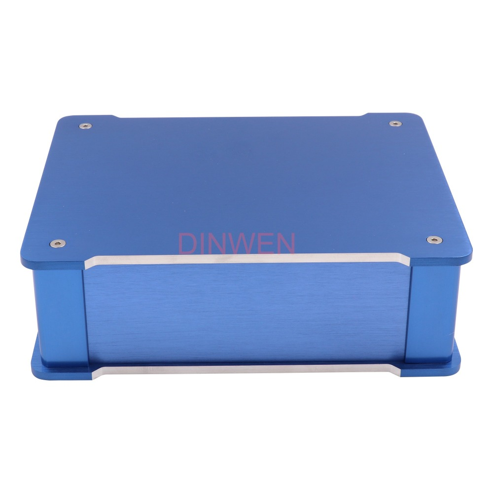 220x70x180mm Blue Machined Full Aluminum Alloy Amplifier Chassis Enclosure Case Box For HIFI Tube Audio DIY Project220x70x180mm Blue Machined Full Aluminum Alloy Amplifier Chassis Enclosure Case Box For HIFI Tube Audio DIY Project