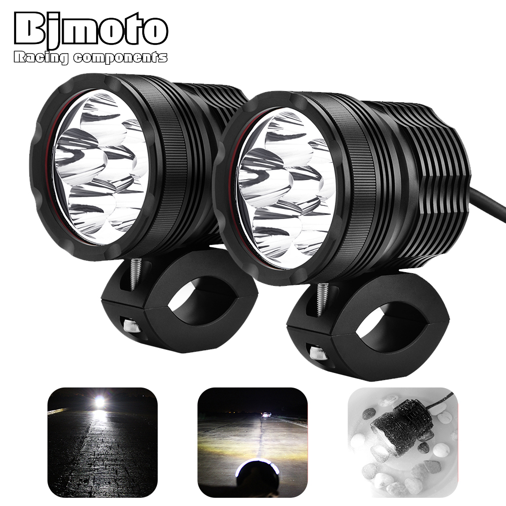 2Pcs Led Light Motorcycles Headlight Lamp Fog Light Working Spotlight 6000K White motocross Waterproof FogLight Spot HeadLamp