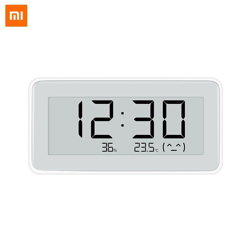 Xiaomi mi jia inteligente temperatura y Hu mi dity vigilancia electrónica reloj Digital de tinta Hu mi dity termómetro reloj Digital