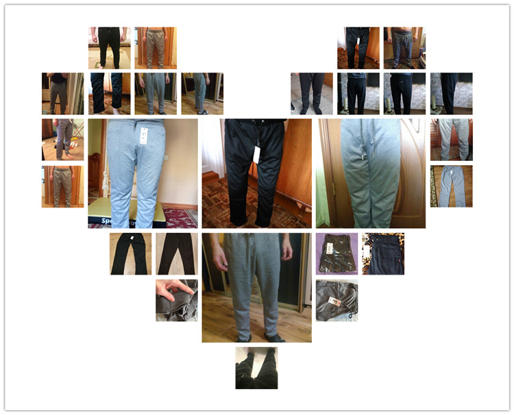 Uwback 17 Plus Size 4XL New Sweat Pants Men Joggers Pants Elastic Waist Loose Sweat Pants For Men Casual Trousers homme CAA329 3
