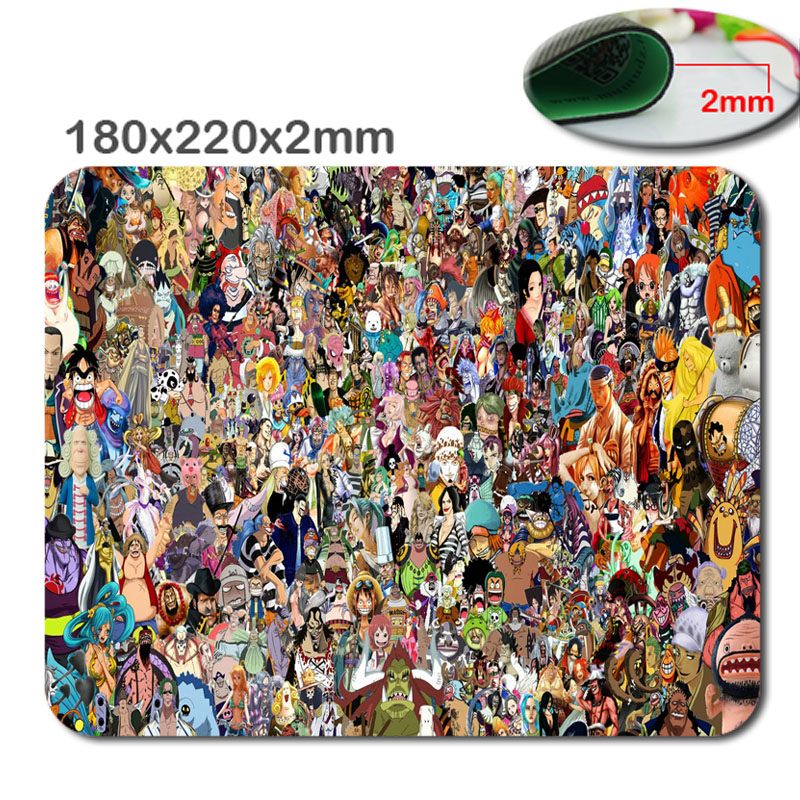 Fashion Design Top Sale One Piece Anime Mousepad Customized Gaming Optical Hemming Mouse Pad for PC Computer Optical Mice Mat
