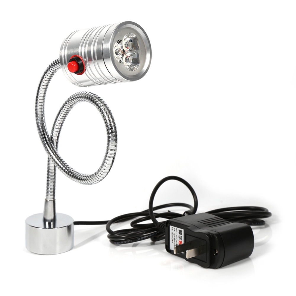 new led sewing machine light lathe light working gooseneck lamp with magnetic mounting base for home - Gooseneck Lamp