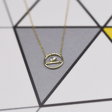 Seanlov 925 Sterling Silver Necklace Gold-Color zircon Simple Fashion Jewelry For Women Fine Gift