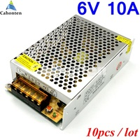 LED Display Switching Power Supply Output DC 6V 10A 60W Mini Safer Monitor Adapter Factory Outlet