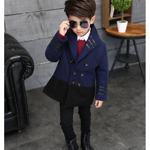 New Arrive Double-breasted Boys Winter Coat Jackets Fashion Solid Warm Kids Wool Coats for Boys Children Outerwear Clothes oc009