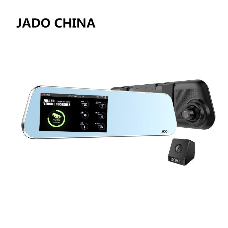 JADO D220 Dell'automobile Dvr 4.5 Touch Screen Full HD 1296 P/1080 P Auto dvr Dual lens macchina fotografica cancelliere dash cam Video Recorder Night Vision