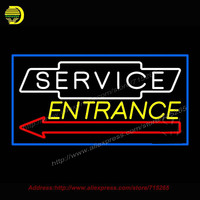 2016 Service Entrance Neon Sign Neon Bulb Neon Decorate Glass Tube Handcrafted Custom LOGO Sign Lighted