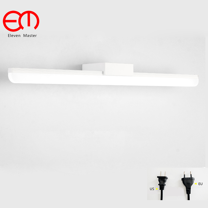 Nordic modern mirror lamp bathroom wall light LED waterproof antifogging mirror light with plug mirror cabinet wall lamp KML0039 mirror light led waterproof antimist bathroom mirror glass wall lamp nordic brief modern mirror cabinet lamp led lighting