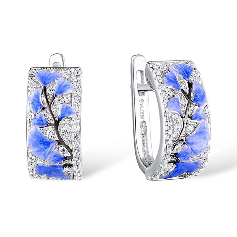 Fashion Autumn Ginkgo Biloba Leaf Earrings For WomenTrendy Elegant Ginkgo Stud Earrings Female Wedding Party Jewerly