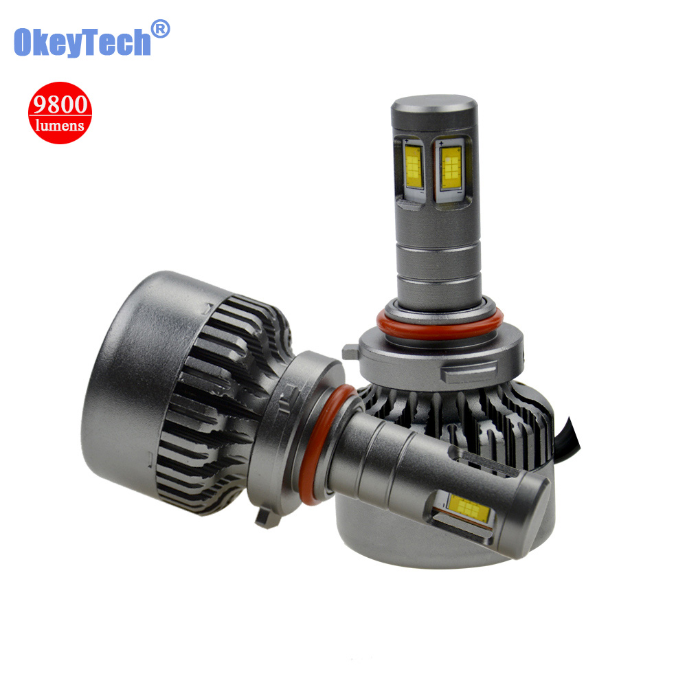Liberal Okeytech 9005 H10 9006 H4 H7 H8 H9 H11 Csp Led Car Headlight Bulb 120w 9800lm 6000k Auto Front Headlamp Bulb Car Lighting Source Factory Direct Selling Price Car Headlight Bulbs(led)
