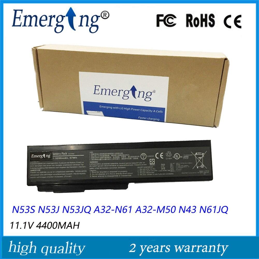 4400mah New Laptop Battery for ASUS  N53S N53J N53JQ A32-N61 A32-M50 N43 N61JQ M50 A32-N61