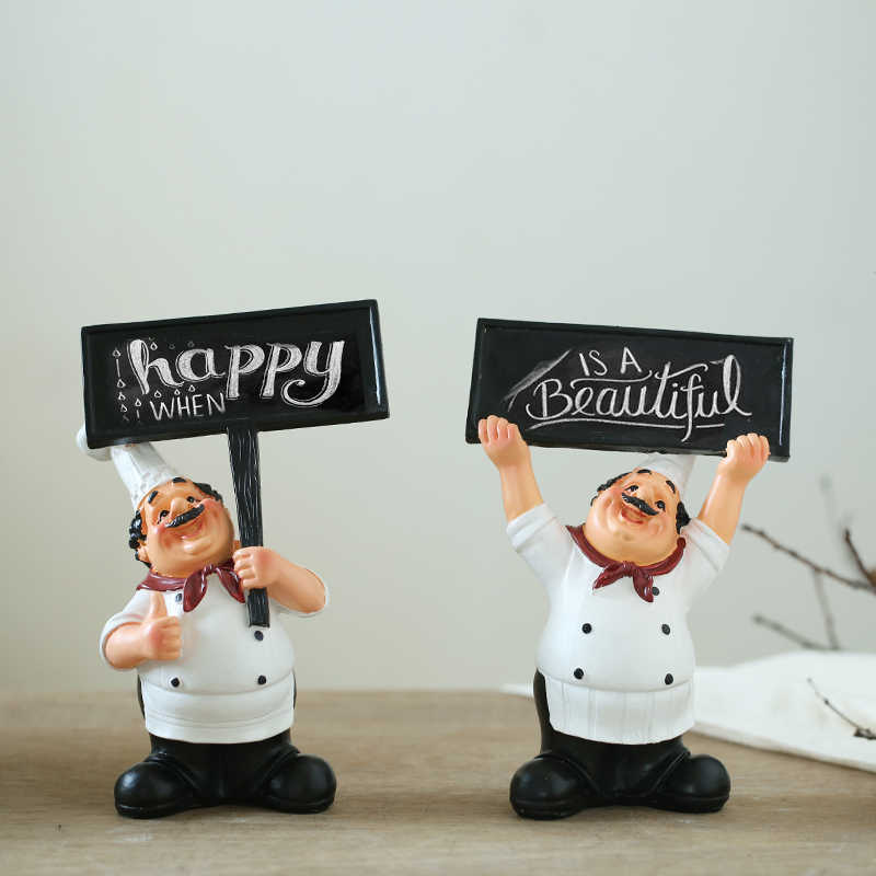 Aibei Resin Cafe Kitchen Chef Decor 1pc Fashion Creative Western