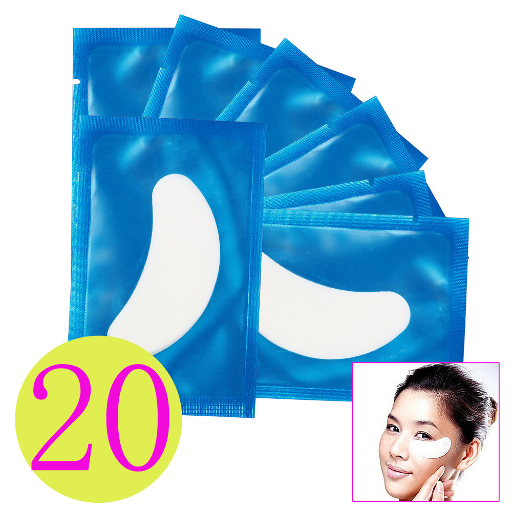 20 Pairs Eye Pad Patch Eyelash Extension Lint Tape Lash Extension Supply Medical Eye Mas ...