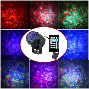 Новинка 2018, 9 Вт, 15 видов цветов, Аврора, лазерный свет, проектор, сценическое освещение, RGBW LED, водяная волна, вечеринка, дискотека, DJ, праздничные огни
