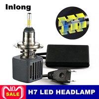 Inlong 2Pcs 12V Car Accessories Car Headlight H4 LED H7 H1 H8 H11 H1 9005 9006 80W 10000LM Auto Headlamp 6500K Fog Light Bulbs