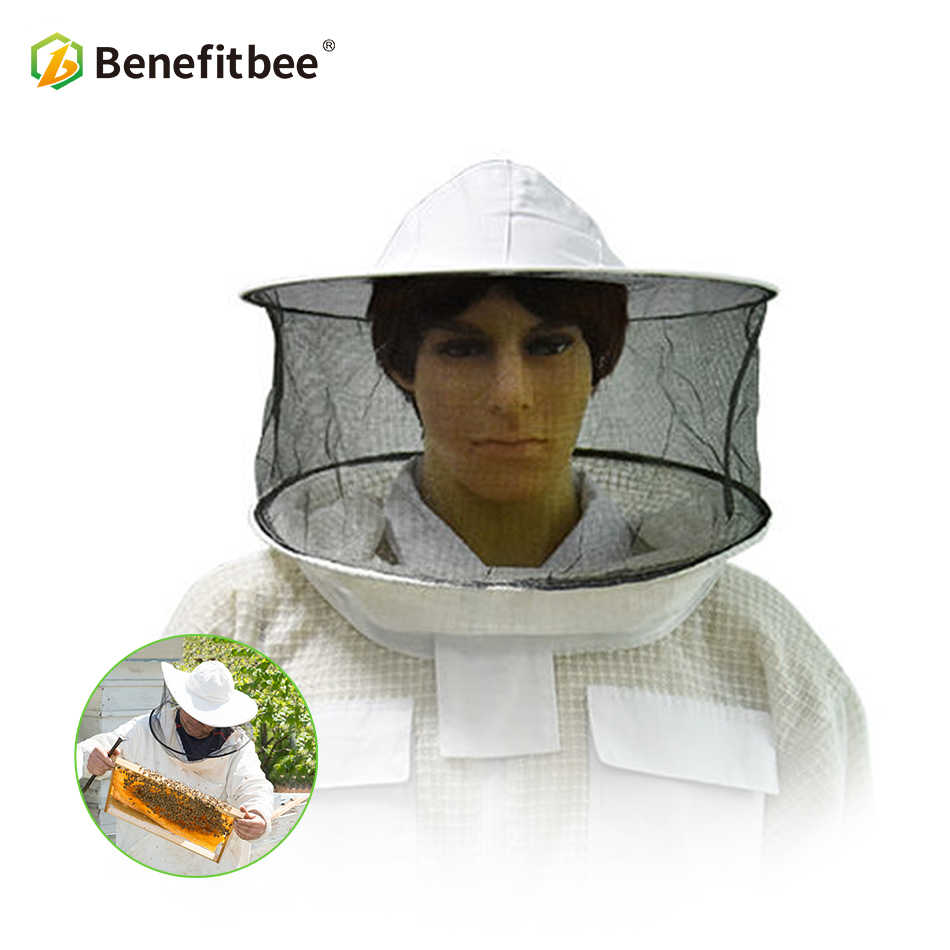 Benefitbee Apiculture Bee Tools Hat Bee Cap For Beekeeper Protective Bee keeping Hat Veil Anti-bee Beekeeping Equipment Tools