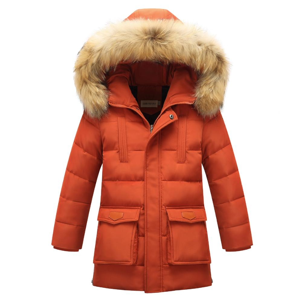 Quality Children Outerwear Winter Boys Thick Down Jacket 2017 New Winter Child Long Warm Coat Boys Hooded Down Outerwear 12Y boys thick down jacket 2018 new winter new children raccoon fur warm coat clothing boys hooded down outerwear 20 30degree
