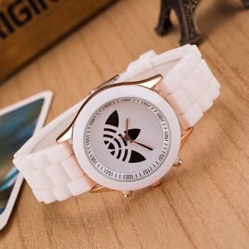 zegarki meskie Famous Brand women watch Hot sale Leaf grass jelly silicone sports Watches Unisex quartz wristwatch reloj mujer цена 2017